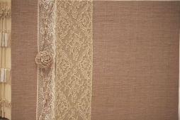 Chocolate Photo Album with Mayflower Alencon Lace